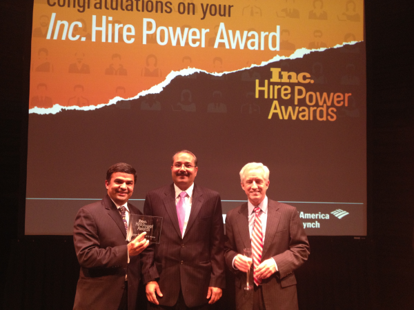 Sagitec Receives Inc.'s Hire Power Award