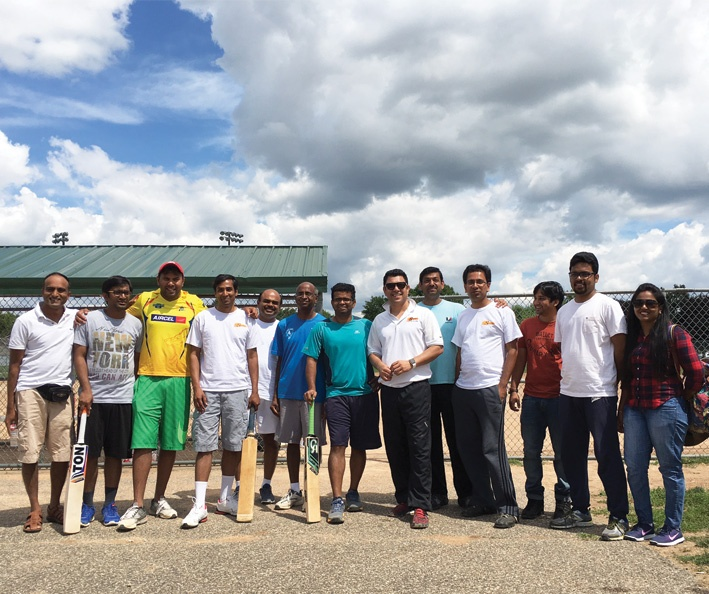 Sagitec employees play cricket for a worthy cause