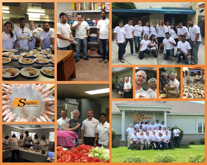 Sagitec employees volunteer across the United States