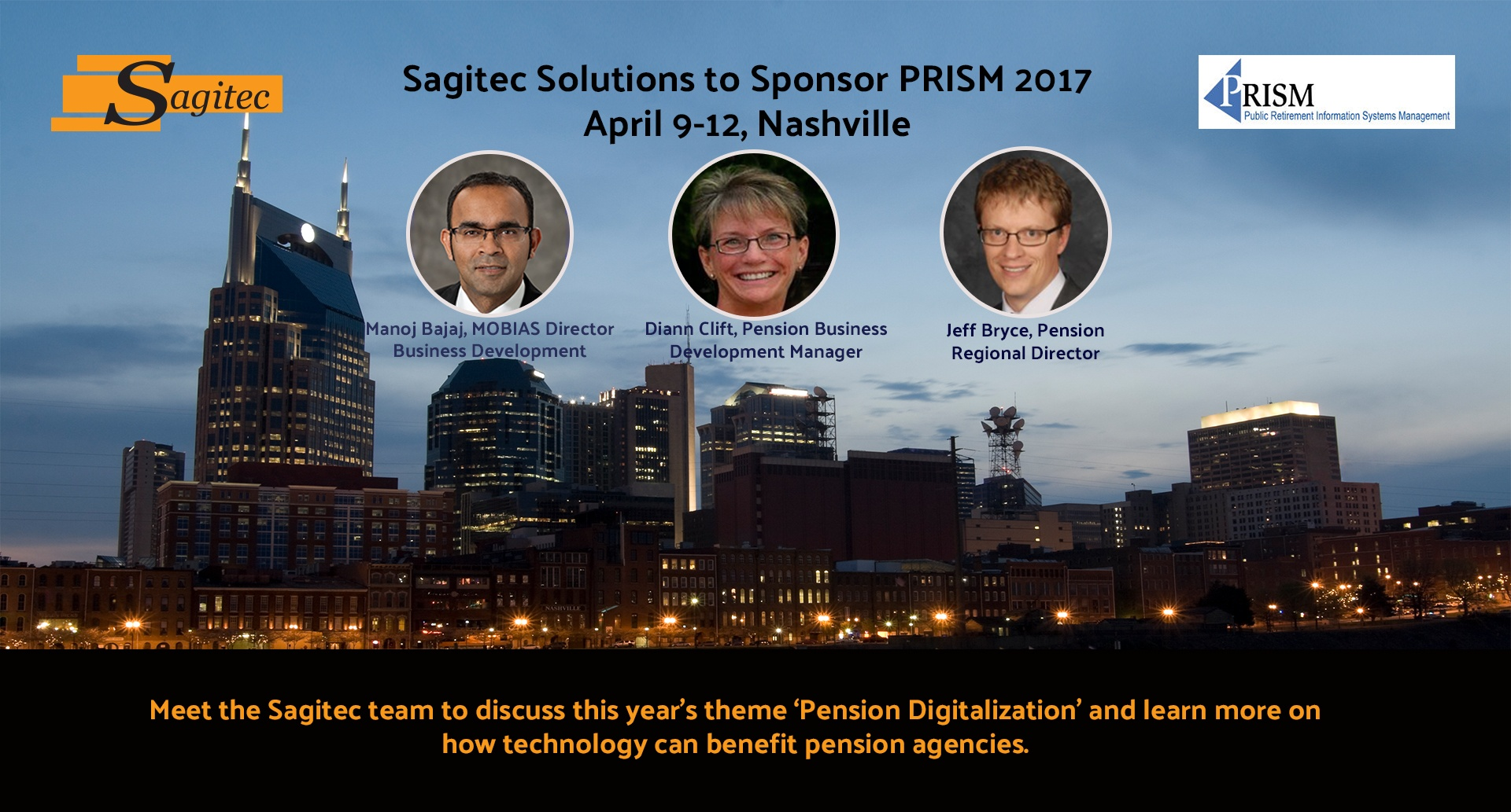 Pension administration, MOBIAS mobile app, Knowledge management, PRISM conference, sponsors at PRISM