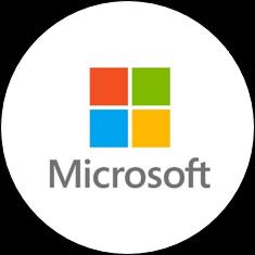 microsoft logo round
